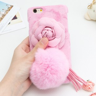 قاب مخملی خزدار Flower Fur Rose 3D Case for Apple iPhone 5.5s