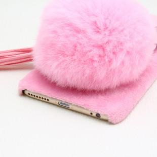 قاب مخملی خزدار Flower Fur Rose 3D Case for Apple iPhone 5.5s