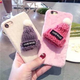 قاب مخملی Winter Fur 3D Plush Hat Case for Apple iPhone 6 Plus