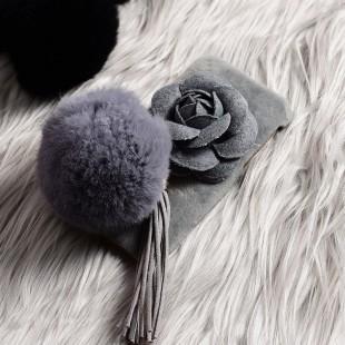قاب مخملی خزدار Flower Fur Rose 3D Case for Samsung Galaxy J7 Prime
