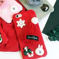 قاب مخملی Winter Fur 3D Plush Atmosphere Hat Case for Apple iPhone 7
