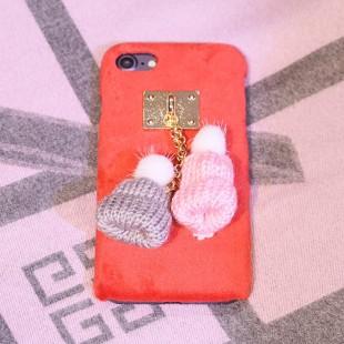 قاب مخملی Winter Fur Two Hat Case for Apple iPhone 6