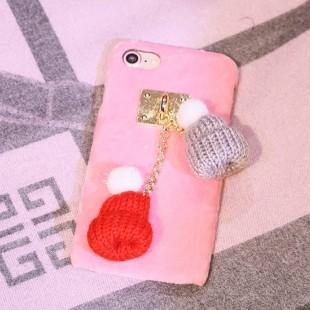 قاب مخملی Winter Fur Two Hat Case for Apple iPhone 7