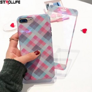 قاب ژله ای با گلس BF Glass Case Apple iPhone 6 Plus