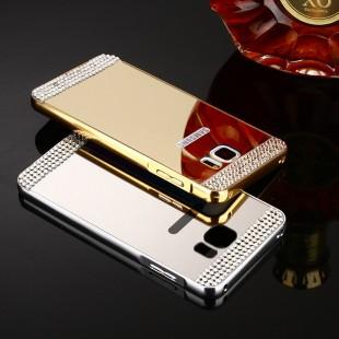 قاب محکم Diamond Mirror Case for Samsung Galaxy S6 قاب آینه ای نگین دار