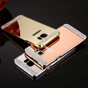 قاب محکم Diamond Mirror Case for Samsung Galaxy S6 Edge قاب آینه ای نگین دار