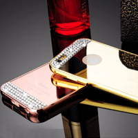 قاب محکم Diamond Mirror Case for Apple iPhone 6 Plus قاب آینه ای نگین دار