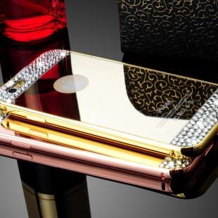 قاب محکم Diamond Mirror Case for Apple iPhone 7 قاب آینه ای نگین دار