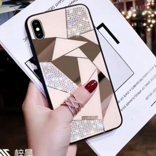قاب ژله ای آینه ای نگین دار Diamond TPU Mirror Case iPhone Xr
