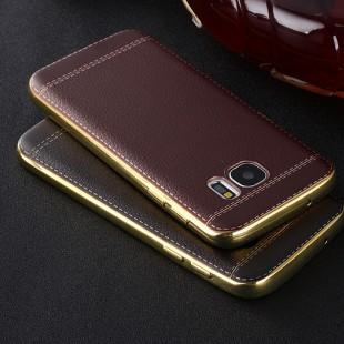 قاب ژله ای Dot Leather Case Samsung Galaxy S6 Edge