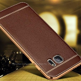 قاب ژله ای Dot Leather Case Samsung Galaxy S6 Edge