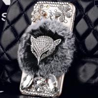 قاب شیشه ای خزدار Fox Glass Case Apple iPhone X