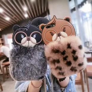 قاب ژله ای خزدار Bear Fur Case Apple iPhone 7