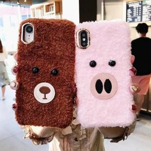 قاب پشمی خرسی Bear Fur Case Apple iPhone X/Xs