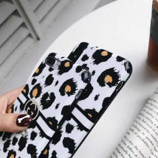 قاب ژله ای پلنگی Leopard White TPU Case iPhone 7