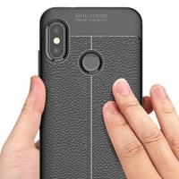 قاب ژله ای طرح چرم Auto Focus Case Xiaomi Mi 6A