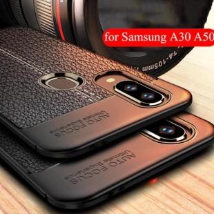 قاب ژله ای طرح چرم Auto Focus Case Samsung Galaxy A50