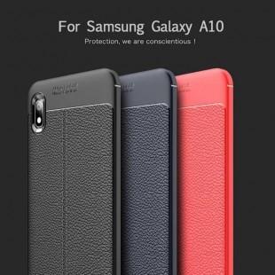 قاب ژله ای طرح چرم Auto Focus Case Samsung Galaxy A10