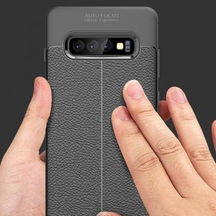 قاب ژله ای طرح چرم Auto Focus Case Samsung Galaxy S10