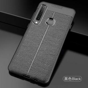 قاب ژله ای طرح چرم Auto Focus Case Samsung Galaxy A9 2018