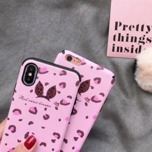 قاب پلنگی صورتی خزدار Leopard Fur Case Apple iPhone 7 Plus