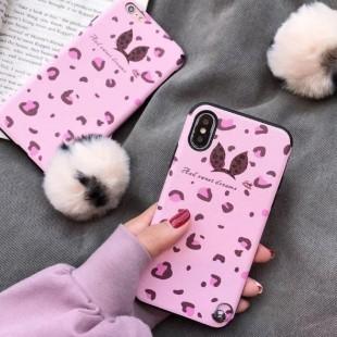 قاب پلنگی صورتی خزدار Leopard Fur Case Apple iPhone X/Xs