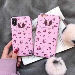 قاب پلنگی صورتی خزدار Leopard Fur Case Apple iPhone Xr