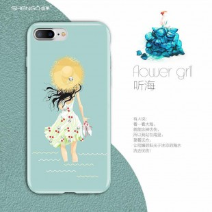 قاب ژله ای Shengo Flower Girl Case Apple iPhone 5.5s