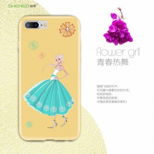 قاب ژله ای Shengo Flower Girl Case Apple iPhone 6