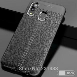 قاب ژله ای طرح چرم Auto Focus Case Samsung Galaxy A20