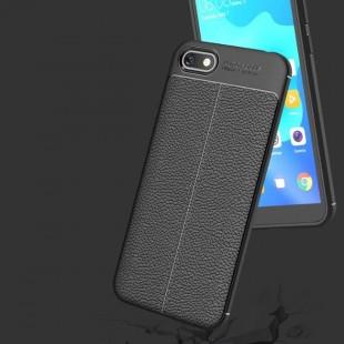 قاب ژله ای طرح چرم هواوی Auto Focus Case Huawei Honor 7s