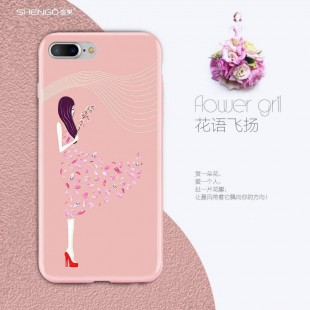 قاب ژله ای Shengo Flower Girl Case Apple iPhone 7 Plus