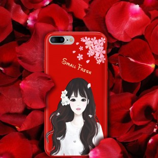 قاب ژله ای Shengo Beautiful Girl Case Apple iPhone 7 Plus