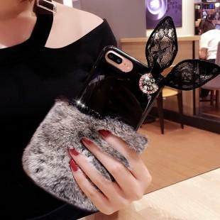 قاب ژله ای خزدار Ring Fur Case Apple iPhone 7