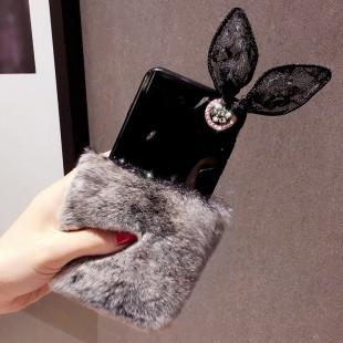 قاب ژله ای خزدار Ring Fur Case Samsung Galaxy S8 Plus