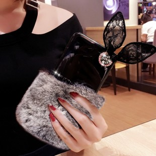 قاب ژله ای خزدار Ring Fur Case Samsung Galaxy Note 8