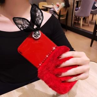 قاب ژله ای خزدار Ring Fur Case Huawei P10