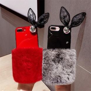 قاب ژله ای خزدار Ring Fur Case Apple iPhone X