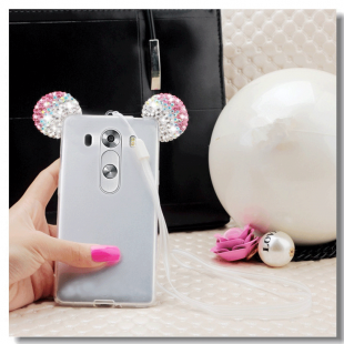 قاب ژله ای Diamond Mickey Luxury 3d Case for LG G3