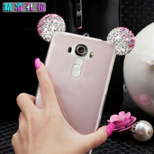 قاب ژله ای Diamond Mickey Luxury 3d Case for LG G4