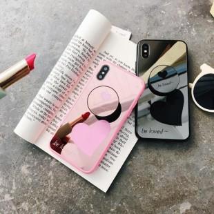 قاب آینه ای پاپ سوکت دار Mirror Love POP Case iPhone X/Xs