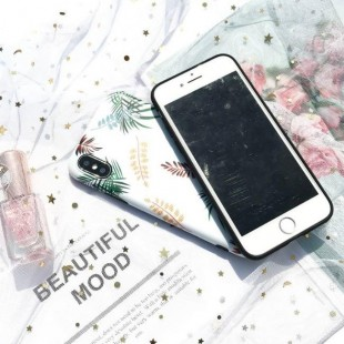 قاب ژله ای طرح برگ Leaf Patterned TPU Case iPhone 7