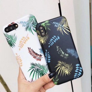 قاب ژله ای طرح برگ Leaf Patterned TPU Case iPhone 6 Plus