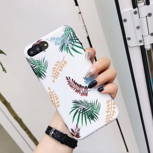 قاب ژله ای طرح برگ Leaf Patterned TPU Case iPhone Xs Max