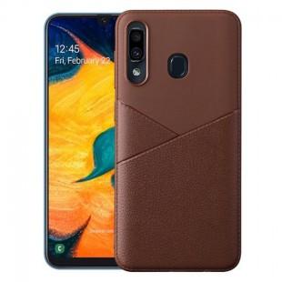 قاب ژله ای طرح چرم سامسونگ Samsung Galaxy M20 Leather TPU Case