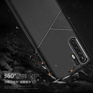 قاب ژله ای طرح چرم هواوی Huawei P30 Pro Leather TPU Case