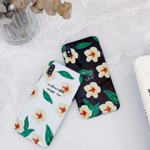 قاب ژله ای طرح گل Black Flower TPU Case iPhone Xs Max