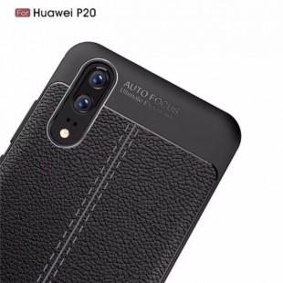 قاب ژله ای طرح چرم Auto Focus Case Huawei P20