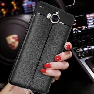 قاب ژله ای طرح چرم Auto Focus Case Huawei Y5 2017