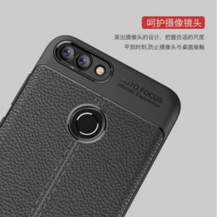قاب ژله ای طرح چرم Auto Focus Case Huawei Y7 Prime 2018